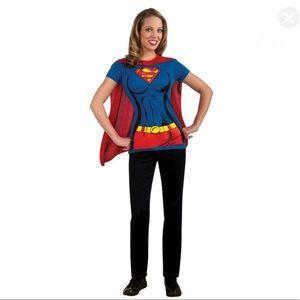 Supergirl Rubie's Shirt Cape Costume New M 10-14